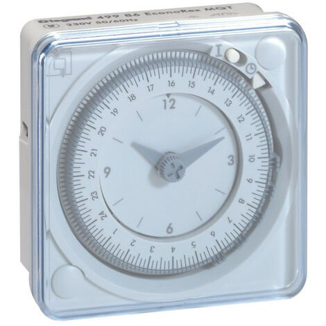 Inter horaire programmable analogique 72x72mm à programme journalier connexion par languette (049986)