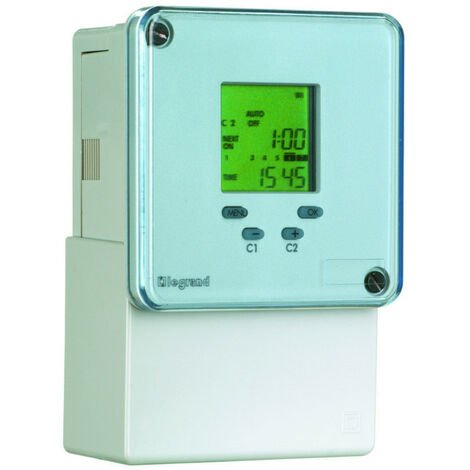 Inter horaire programmable digital 72x72mm à programme journalier et hebdomadaire 230V~ 2 sorties (049682)