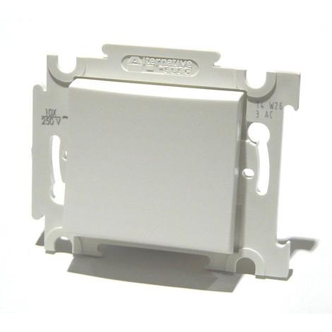 Inter va et vient blanc 10A 250V encastré connexion auto fixation vis sans plaque ALTERNATIVE ELEC AE52001