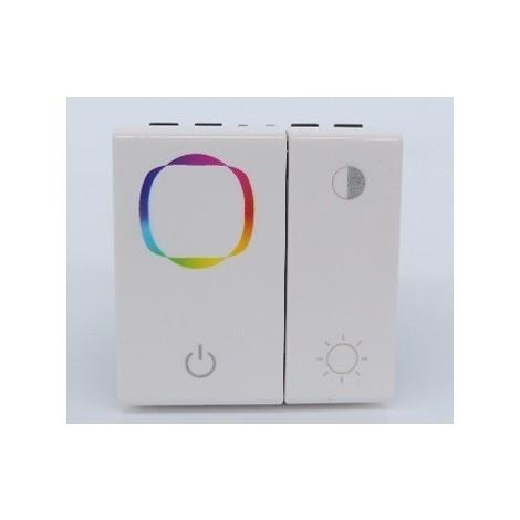 Inter variateur de couleurs blanc encastré pour éclairage 1 zone équipé LED RGB ballasts et drivers DALI MOSAIC LEGRAND 078403