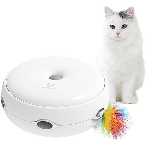 """main image of """"Interactive Cat Toy Electronic Smart Cat Teasing Toy with Feather Smart Modes Nighttime Light"""""""