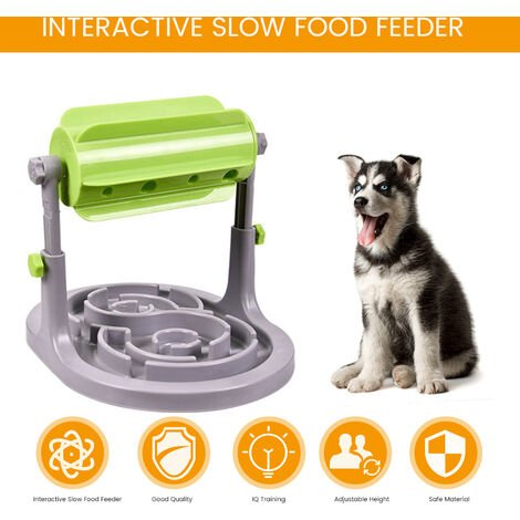 Interactive Slow Food Dog Toys Food Feeder Educational Dog Puzzle Toys Training Game Toy Anti Choke Slower Treated Feeder Bowl