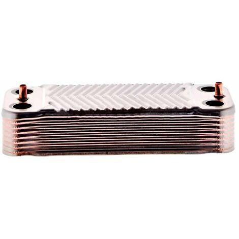 Intercambiador a placas caldera SAUNIER DUVAL 16 placas 34Kw Medidas 206mmx76mm Fijaci?n 179mm