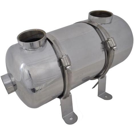 Intercambiador de calor para piscina, 355 x 134 mm, 40 kW