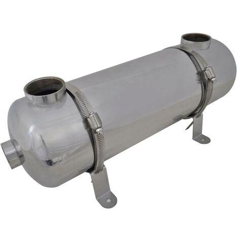 Intercambiador de calor para piscina, 485 x 134 mm, 60 kW