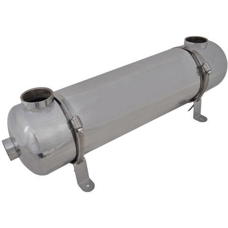 Intercambiador de calor para piscina, 613 x 134 mm, 75 kW