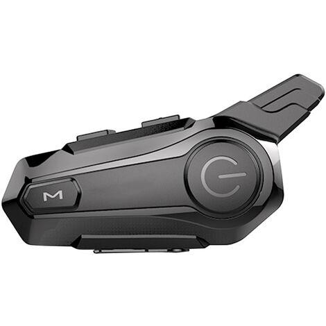 Intercomunicador BT para motocicleta con casco de radio FM, auriculares BT, sistema de comunicacion universal impermeable para motocicleta ATV Dirt Bike