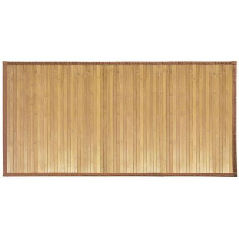 InterDesign Formbu Tappeto bamboo antiscivolo, Grande Tappeto bagno idrorepellente in bambù marrone chiaro