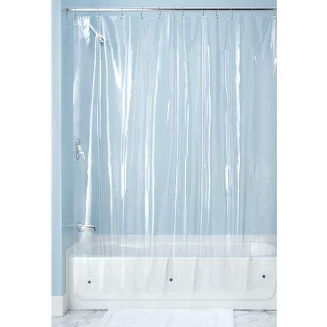 Tenda da doccia impermeabile arancione con occhielli e anelli dimensioni 180 x 200 cm