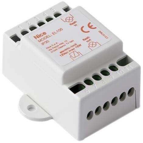 Interface pour activation de serrure électrique sur motorisation de portail - Nice - {couleurs}