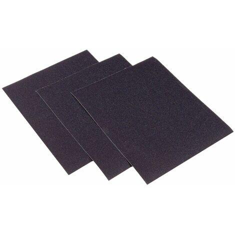 Interflex - Hoja papel lija al agua carburo de silicio Ancho x Largo x Grano - 230x280mm x Gr.320