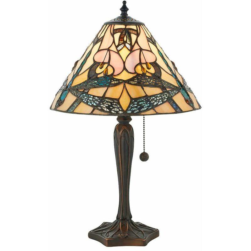 Image of Ashton 1-bulb lamp, glass and resin