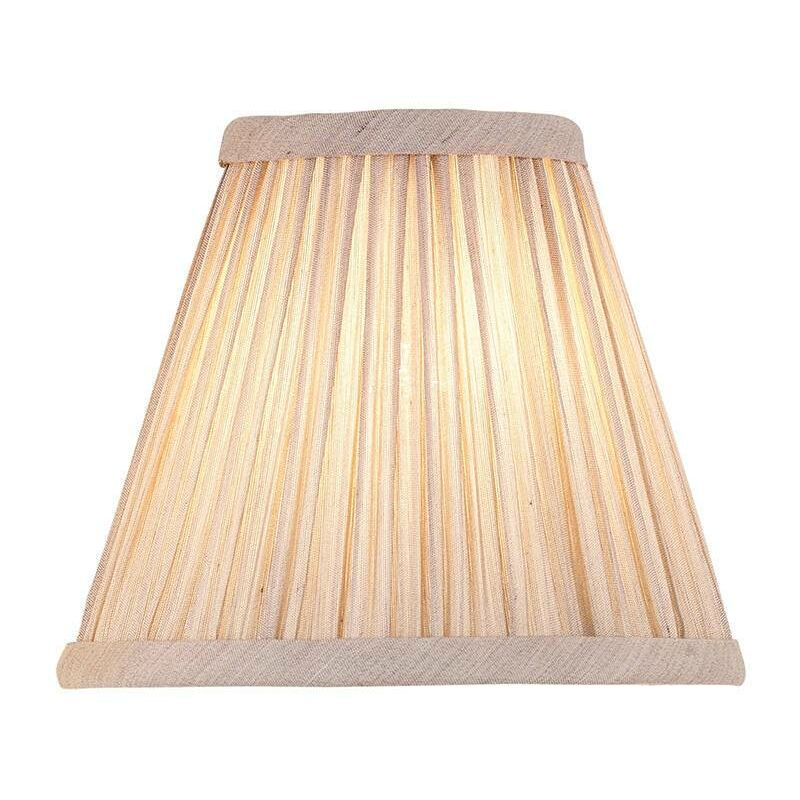 Image of Interiors - Beige And Antique Brass Six Inch Shade, E14