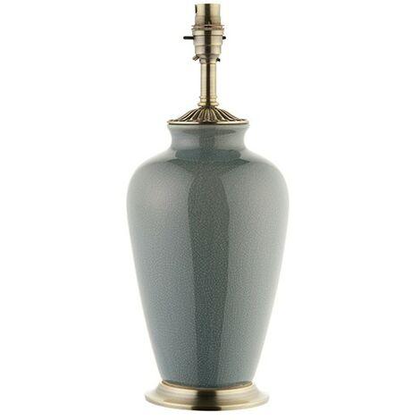 Interiors Lighting Ryhall duck egg blue - Table Lamp Duck Egg Blue Ceramic & Brass Plate 1 Light IP20 - B22