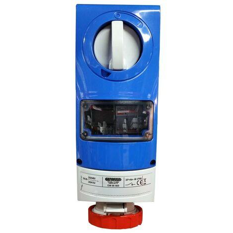 Interlocked-interrupteur de la prise électrique Gewiss 3P+N+e 16 A indice de protection IP66 380V GW66809