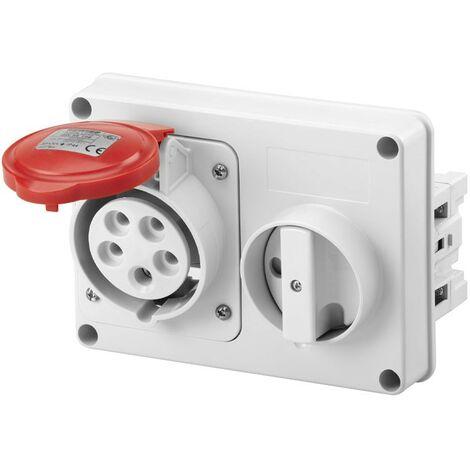 Interlocked-interrupteur de la prise électrique Gewiss 3P+N+t 16A IP44 380V sans boîte GW66109