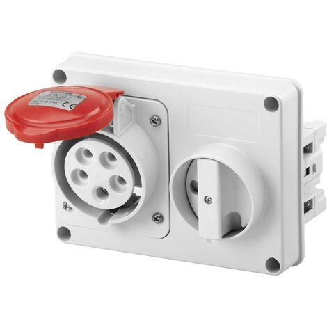Interlocked-interrupteur de la prise électrique Gewiss 3P+N+t 32A IP44 380V sans boîte GW66120