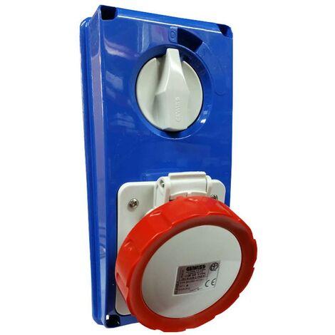 Interlocked-interrupteur de la prise électrique Gewiss verticale 3P+t 32A IP67 GW66319N