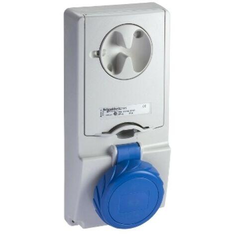 Interlocked-interrupteur prise de courant Schneider verticale 2X16A+T 230V IP65 82181