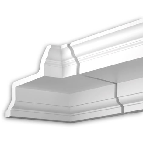Internal angle joint element Profhome 401121 Facade moulding Corner element Facade element Neo-Classicism style white