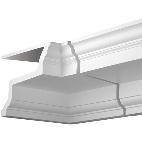Internal angle joint element Profhome 401123 Facade moulding Corner element Facade element Neo-Classicism style white