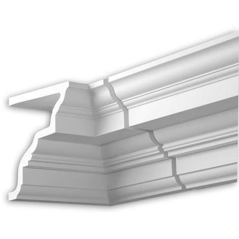 Internal angle joint element Profhome 401221 Facade moulding Corner element Facade element Neo-Classicism style white