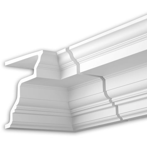 Internal angle joint element Profhome 401321 Facade moulding Corner element Facade element timeless classic design white
