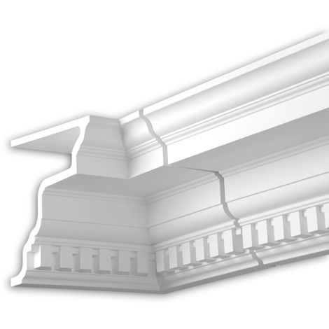 Internal angle joint element Profhome 401322 Facade moulding Corner element Facade element timeless classic design white