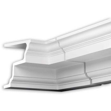 Internal angle joint element Profhome 402121 Facade moulding Corner element Facade element Neo-Classicism style white