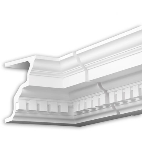 Internal angle joint element Profhome 402221 Facade moulding Corner element Facade element timeless classic design white