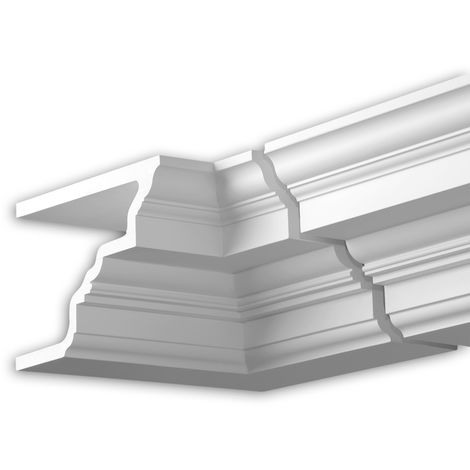 Internal angle joint element Profhome 431221 Facade moulding Corner element Facade element Neo-Classicism style white