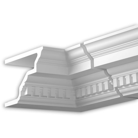 Internal angle joint element Profhome 431222 Facade moulding Corner element Facade element timeless classic design white