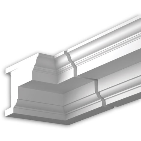 Internal angle joint element Profhome 432121 Facade moulding Corner element Facade element Neo-Classicism style white