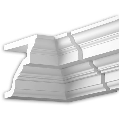 Internal angle joint element Profhome 432221 Facade moulding Corner element Facade element timeless classic design white