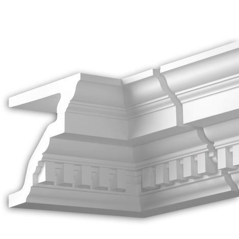 Internal angle joint element Profhome 432222 Facade moulding Corner element Facade element timeless classic design white