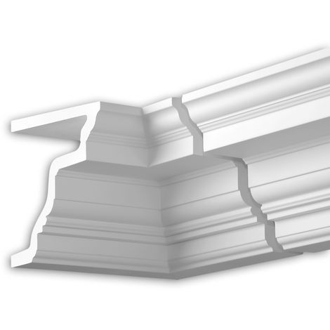 Internal angle joint element Profhome 432322 Facade moulding Corner element Facade element timeless classic design white