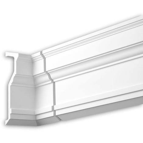 Internal angle joint element Profhome 481021 Facade moulding Corner element Facade element Neo-Classicism style white