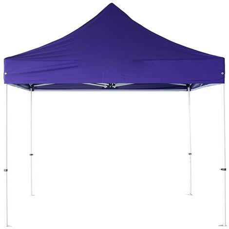 INTEROUGE Tente pliante 3x3 M - Polyester Imperméable 300g/m² - Structure Acier 32mm