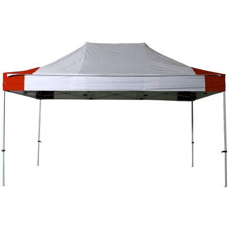 INTEROUGE Tente pliante 3x4,5 M en Acier et Polyester 300g/m² Tonnelle pliante Chapiteau Barnum