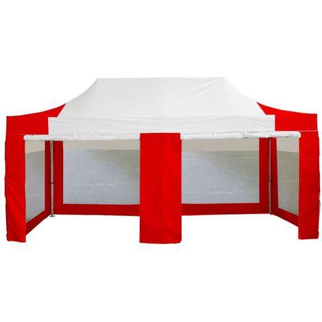 tente pliante tonnelle 3x6 m en acier et polyester 300g m. Black Bedroom Furniture Sets. Home Design Ideas
