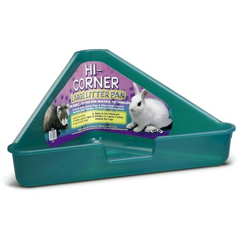 Interpet Limited Superpet Large Corner Litter Pan (Assorted Colours) - ASRTD (One Size) (Assorted)