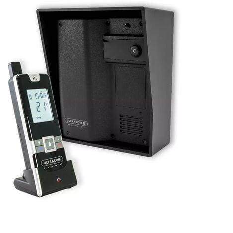 Interphone 100% sans-fil autonome sur piles 600 mètres longue distance - UltraCOM2 Noir 600-SOLO + visière + combiné
