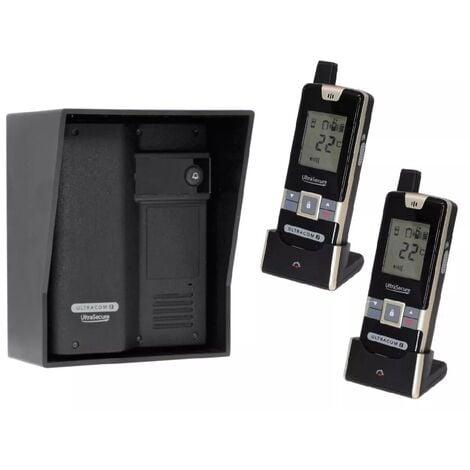 Interphone 600 mètres autonome individuel sans-fil longue distance - UltraCOM2 NOIR 600-SOLO visière noire + 2 combinés