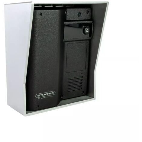 Interphone 600 mètres autonome individuel sans-fil - UltraCOM2 NOIR 600-SOLO + visière argentée + combiné