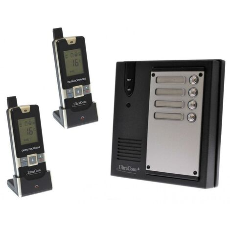 Interphone 600 mètres collectif longue portée sans-fil UltraCOM 600-MULTI + 2 combinés