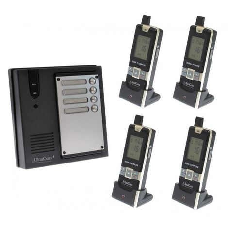 Interphone 600 mètres collectif longue portée sans-fil UltraCOM 600-MULTI + 4 combinés