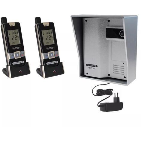 Interphone 600 mètres individuel sans-fil - UltraCOM2 ARGENTÉ 600-SOLO visière argentée + transformateur + 2 combinés