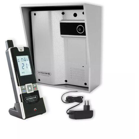 Interphone 600 mètres individuel sans-fil - UltraCOM2 ARGENTÉ 600-SOLO visière argentée + transformateur + combiné
