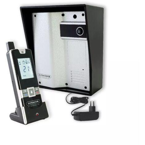 Interphone 600 mètres individuel sans-fil- UltraCOM2 ARGENTÉ 600-SOLO + visière noire + combiné + transformateur