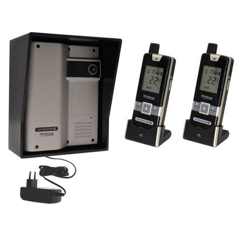 Interphone 600 mètres individuel sans-fil - UltraCOM2 ARGENTÉ 600-SOLO visière noire + transformateur + 2 combinés